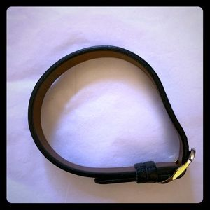 Keep Collective black & brown leather bracelet